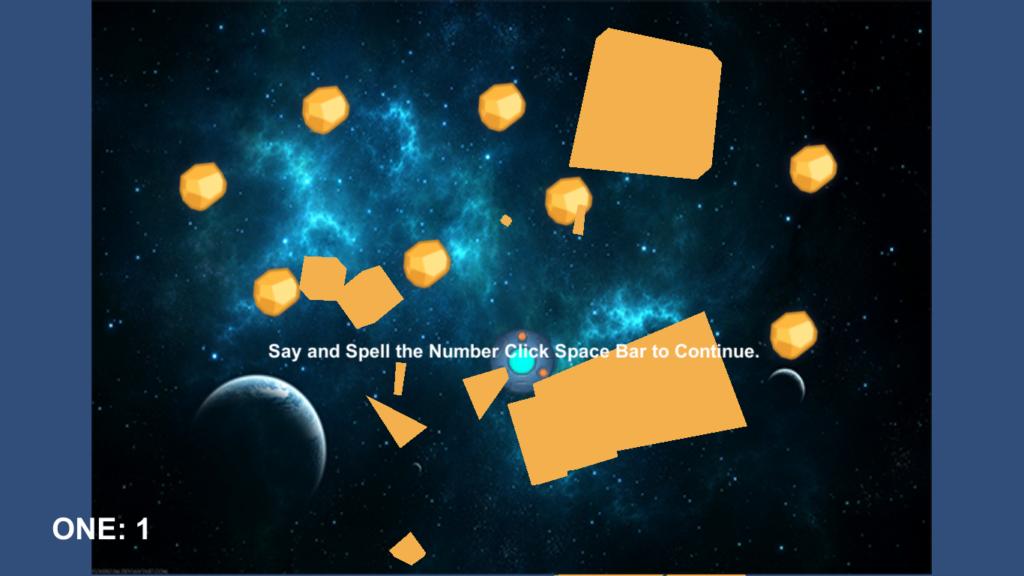 Space Math Game Screen Shot 1
